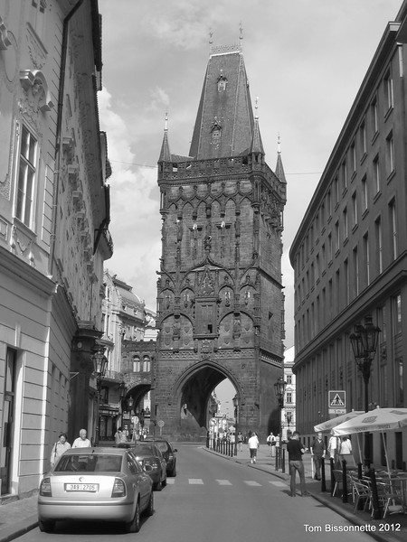 Entry to the old city of Prague.