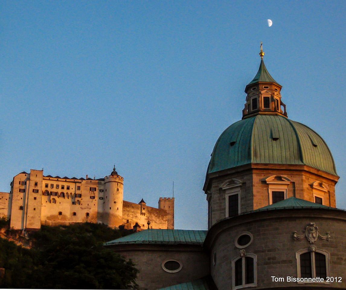 Moon over Salzsburg.