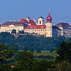 Huge Benedictine Abbey at Melk seen from roughly three miles away
