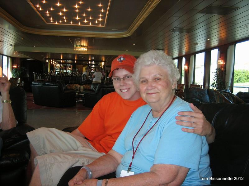 Adam Gellenbeck and his grandmother.