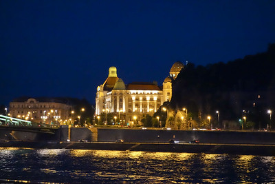 The Hotel Gellert at night