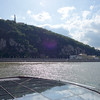 The Liberty Statue on top of Gallert hill, the Danube and part of our ship in the foreground,