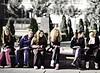 Schoolgirls, Belgrade, Serbia
