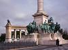 Horsemen, Plaza of Heroes, Budapest, Hungary (Bronica 645)