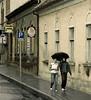 Couple, Sidewalk, Pecs, Hungary