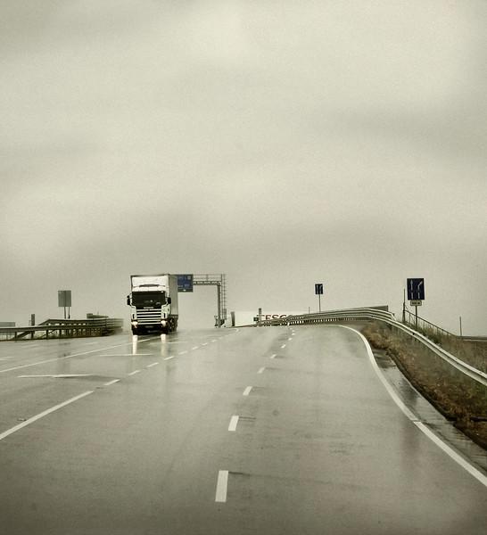 Big Truck, Overpass, near Pecs, Hungary