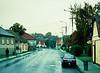 Rain, Man Walking, near Pecs, Hungary