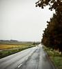 Rain, Red Car, near Pecs, Hungary