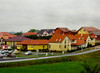 Rain, Yellow Houses, near Pecs, Hungary