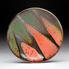 "Boundaries Platter, Red & Green<br /> Daphne's platters are available in four sizes:  7-8"", 11-12"", 15"" and 18-20""."
