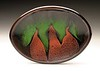 "Boundaries Platter, Red & Green<br /> Daphne's Oval Platters come in three sizes:<br /> 8x12"", 10x13"" & 11x16"""