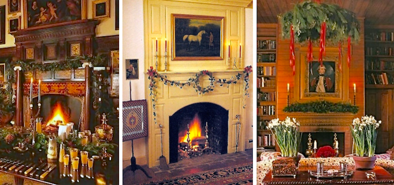 every fireplace adorned ...