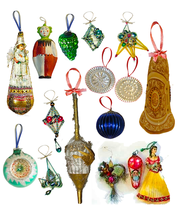 assorted 19th c. ornaments