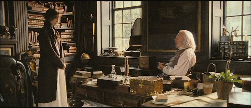 Elizabeth discussing her future with Mr. Bennet