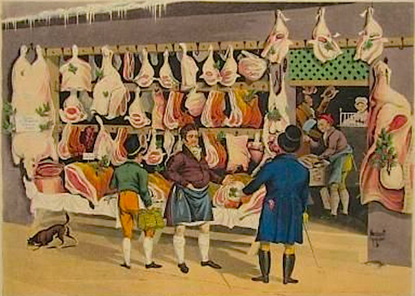 Butcher shop, 1822