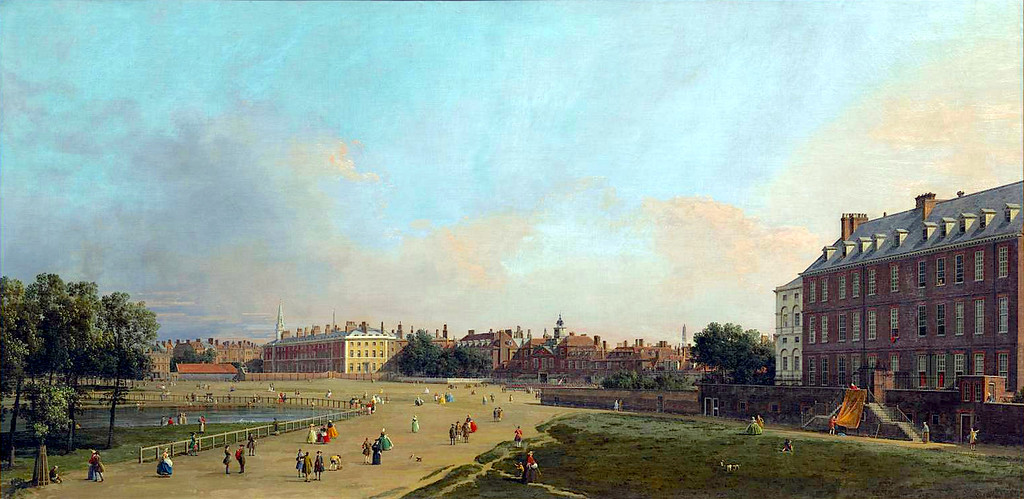 View of the promenade before the Old Horse Guards