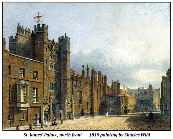 North front of St. James' Palace