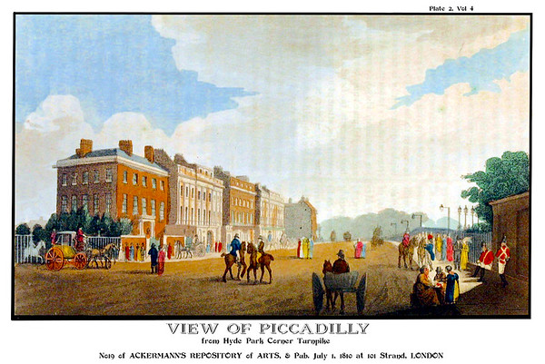 "Piccadilly, street with the famous ""circus"" roundabout."