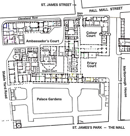Map/layout of St. James' Palace