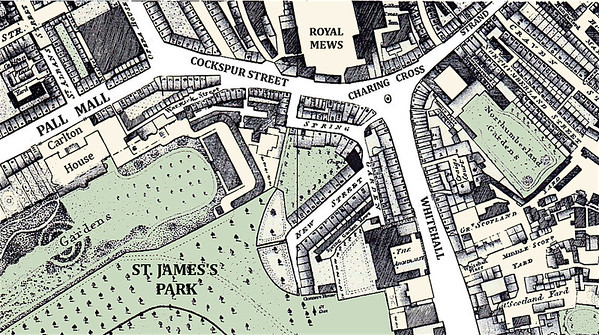 Map of Charing Cross, London
