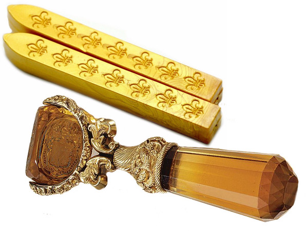 Lady Catherine's seal and gold wax sticks