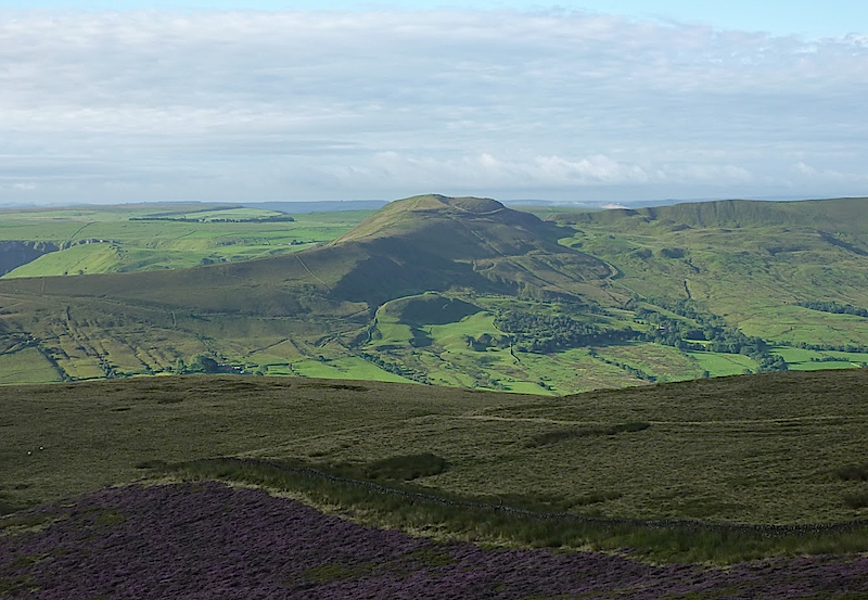 Edale Valley with Mam Tor in center