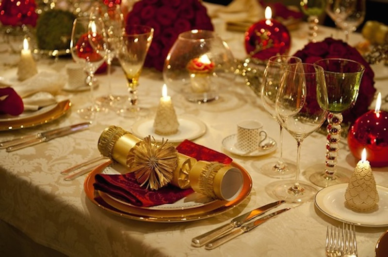 Table Set For Christmas Dinner table set for christmas dinner - home design