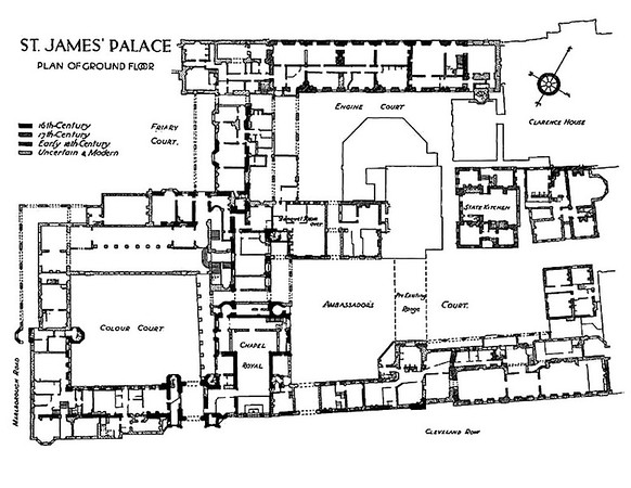 palace ground floor plan over centuries