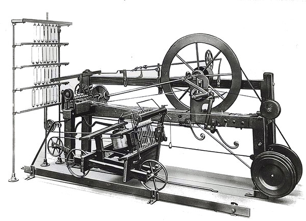 a cotton spinning mule