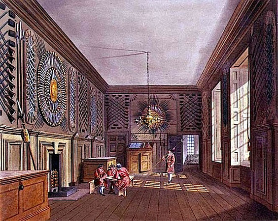 The Guard Chamber, St. James's Palace, 1818