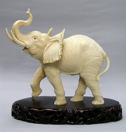 ivory elephant carved by George