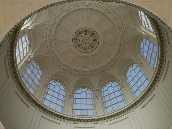 rotunda ceiling of glass windows