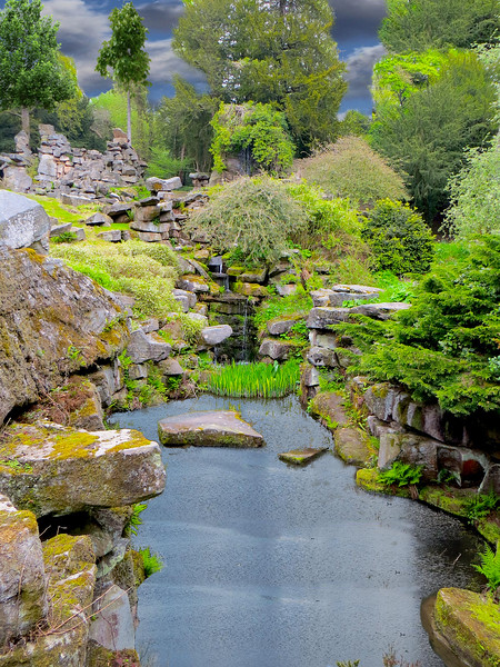 pond amid the rocks