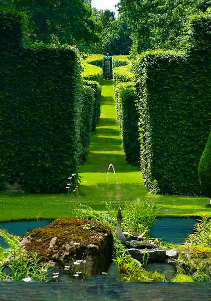 Serpentine hedge pathway