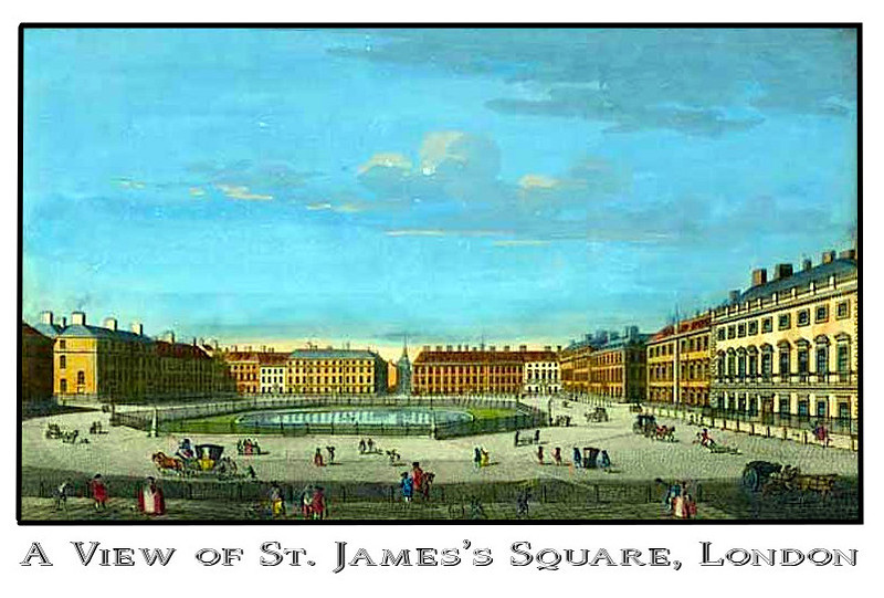 St. James's Square, location of Matlock townhouse
