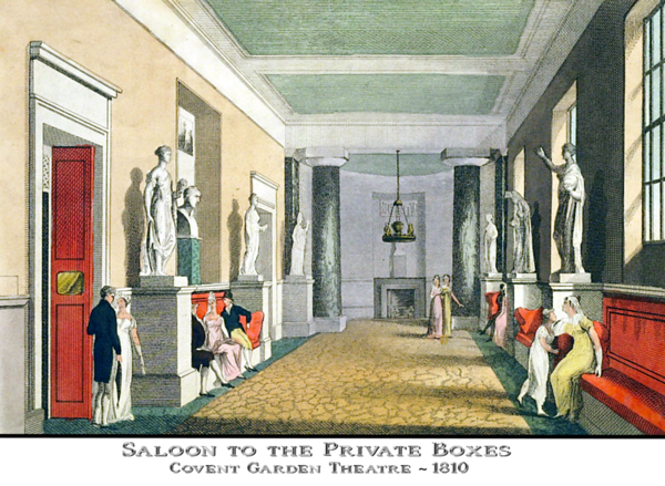 Covent Garden Theatre salon, 1810