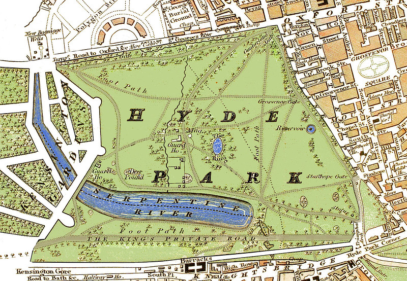 Hyde Park in London, 1833