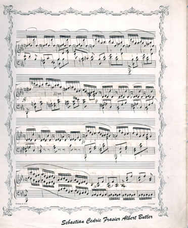 Mr. Butler's signed compositions