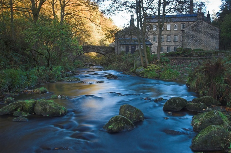 Wool mill on the River Derwent