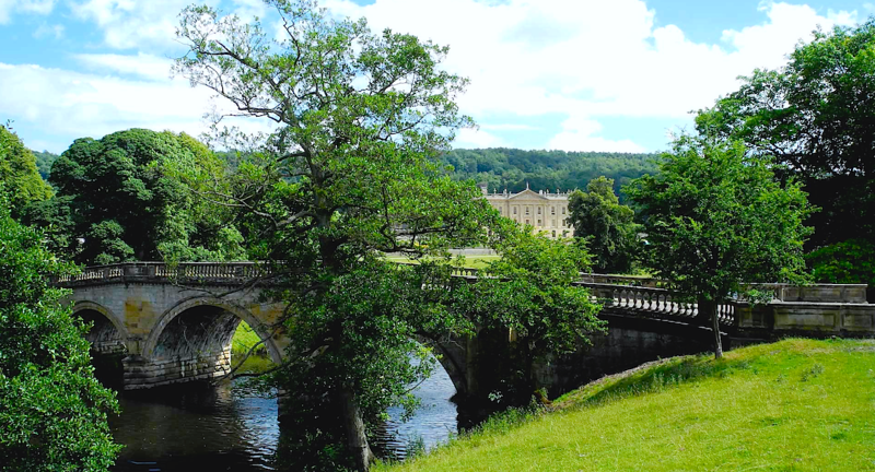 Pemberley and the north bridge approach