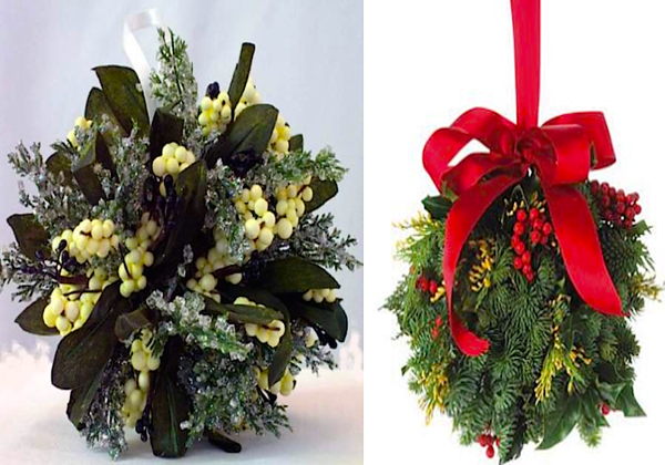 mistletoe balls for kissing