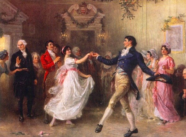 dancing at the ball