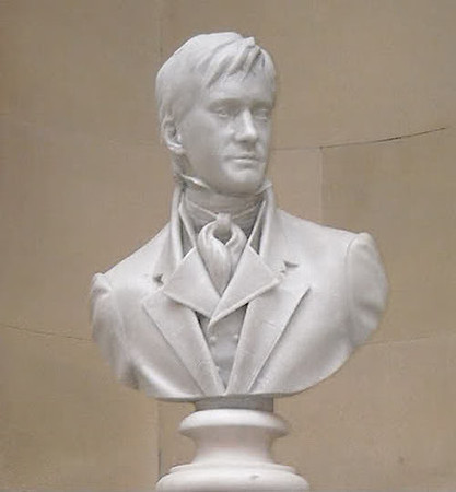 Darcy's bust in gallery