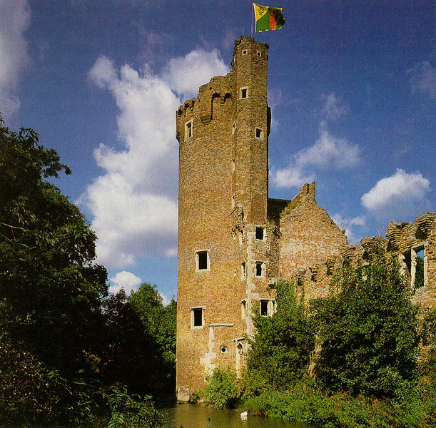 Caister Castle in ruins