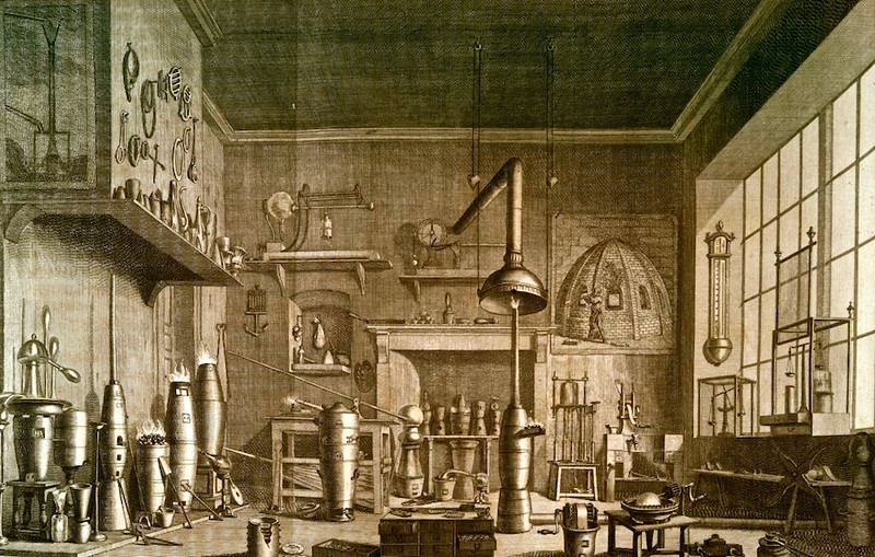 Laboratory, 1790 etching