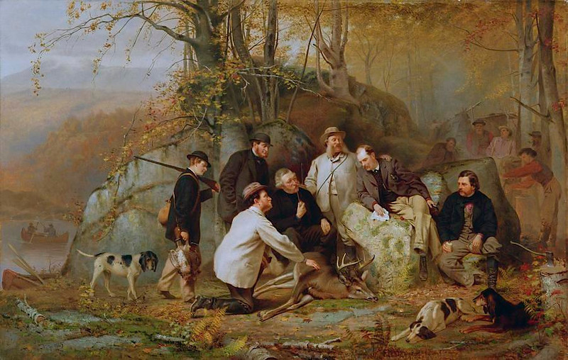Darcy, Lord Matlock, and the Oeggl men enjoy hunting.