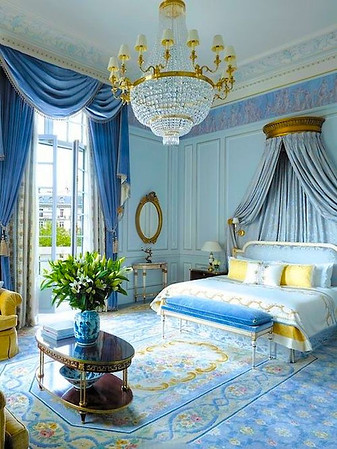 The Darcys' bedchamber in Paris
