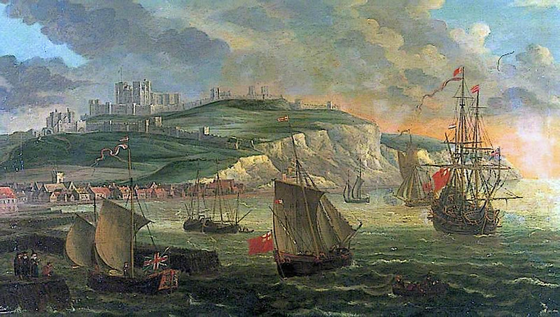 Dover Castle, Kent, and the seaport