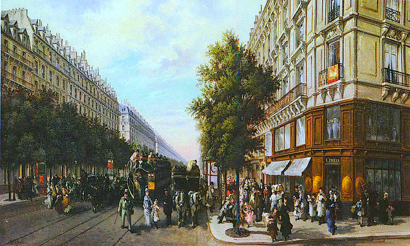 busy streets of Paris