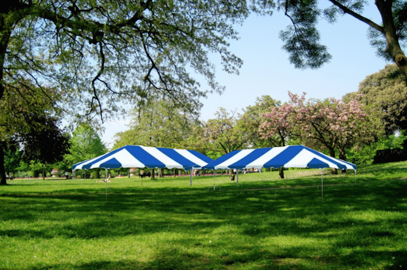 Easter picnic tents